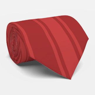 Auburn Color Stripe Funky Pattern Tie