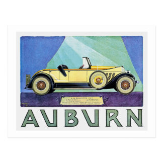 Auburn Vintage Auto Advertisement Postcard