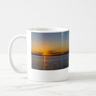 Auckland City Sunrise Silhouette Coffee Mug