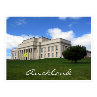 auckland museum lawn postcard