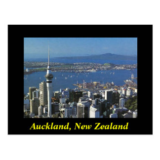 Auckland New Zealand postcard