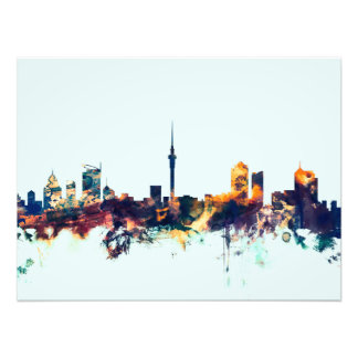 Auckland New Zealand Skyline Photo Print