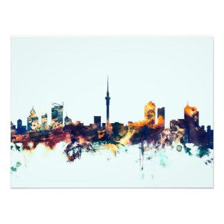 Auckland New Zealand Skyline Photo Print