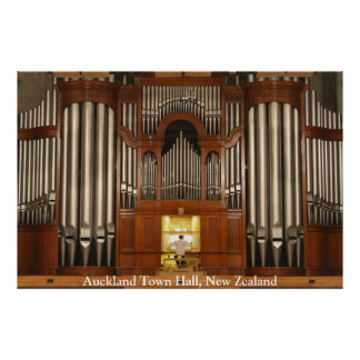 Auckland Town Hall pipe organ poster