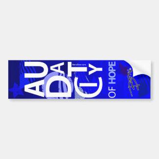 """Audacity"" Designer Vertical Bumper Sticker"