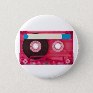 audio compact cassette 6 cm round badge