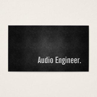 Audio Engineer Cool Black Metal Simplicity Business Card