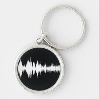 audio wave key ring