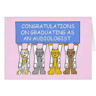 Audiologist graduation congratulations. card