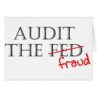 Audit the Fraud Greeting Card
