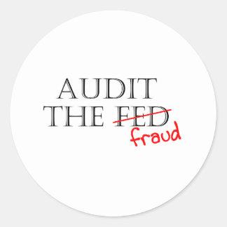 Audit the Fraud Round Sticker