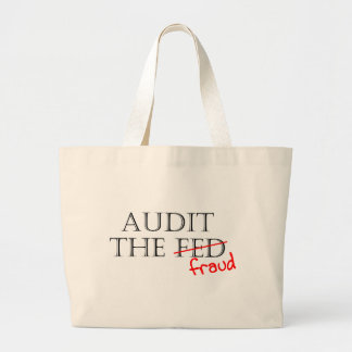 Audit the Fraud Jumbo Tote Bag