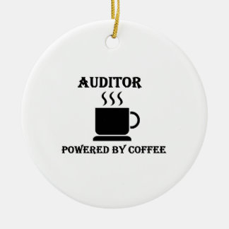 """""""Auditor"""" Powered by Coffee Christmas Ornament"""