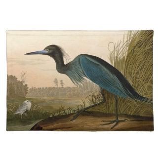 Audubon Blue Crane Heron Birds of America Placemats