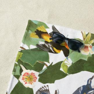 Audubon Collage Birds Wildlife Animals Beach Towel
