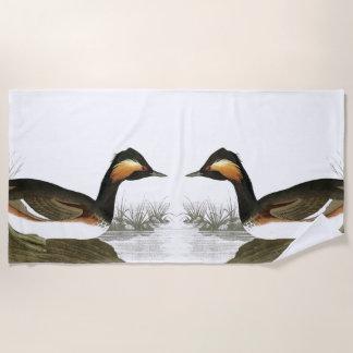 Audubon Eared Grebe Birds Wildlife Beach Towel