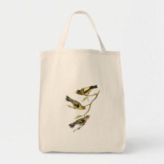 Audubon Evening Grosbeak Tote Bags