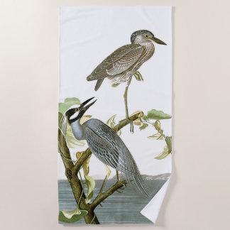 Audubon Heron Birds Wildlife Animals Beach Towel
