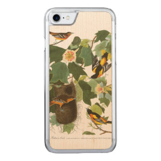 Audubon Plate 12 Baltimore Oriole Carved iPhone 8/7 Case