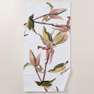 Audubon Warbler Birds Wildlife Animals Beach Towel