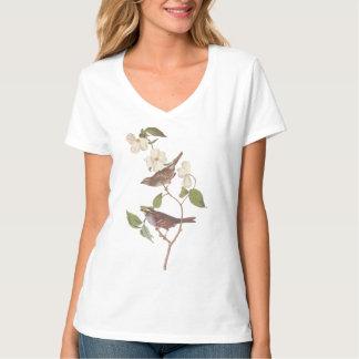 Audubon White Throated Sparrow Bird T-Shirt