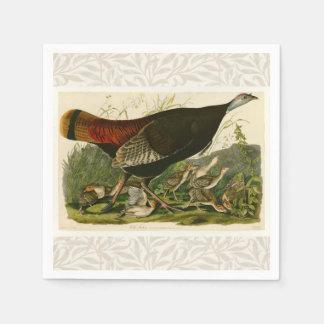 Audubon Wild Turkey Vintage Birds of America Disposable Napkin