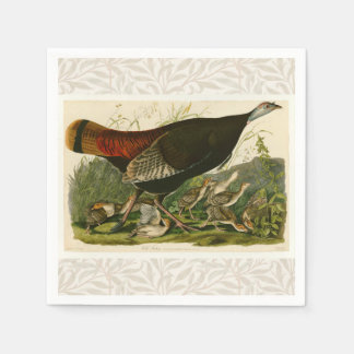 Audubon Wild Turkey Vintage Birds of America Disposable Serviettes