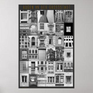 Augen in der Großstadt Poster