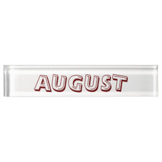 August Alphabet Soup Desk Namplate by Janz Nameplate
