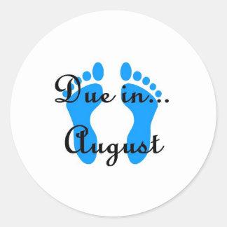 August Baby Round Sticker