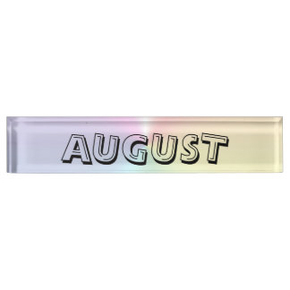 August Shimmer Desk Namplate by Janz Desk Nameplate