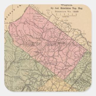 Augusta County, Virginia 2 Square Sticker