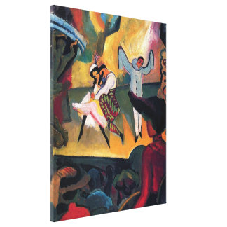 Auguste Macke - Russian Ballet Dancers on Stage Canvas Print