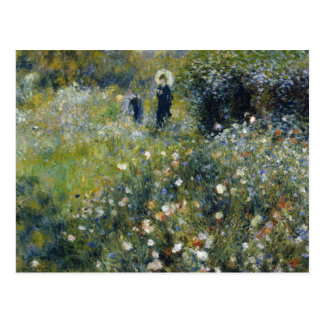 Auguste Renoir - Woman with a Parasol in a Garden Postcard
