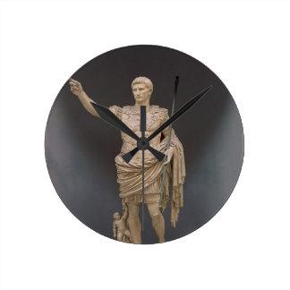 Augustus of Prima Porta, c.20 BC (marble) Wall Clock