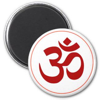 Aum or Om Symbol (Dark red color) Magnet