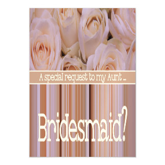 Aunt Please be Bridesmaid Magnetic Invitations