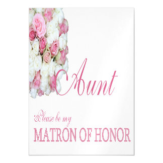 Aunt, Please be my Matron of Honor? Magnetic Invitations