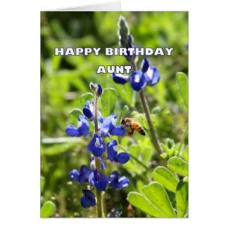 Aunt Texas Bluebonnet Happy Birthday Greeting Card