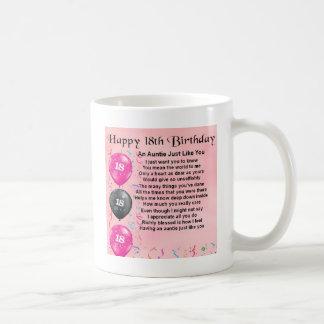 Auntie Poem 18th Birthday Coffee Mug