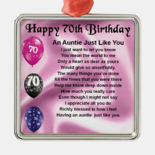 Aunts 70th Birthday Gifts On Zazzle NZ