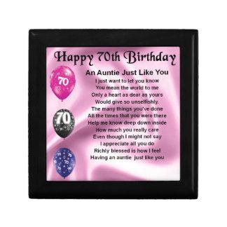 Auntie Poem - 70th Birthday Gift Box