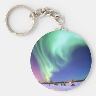 Aurora at Bear Lake. Key Ring