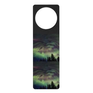 Aurora borealis in Finnish Lapland Door Hanger