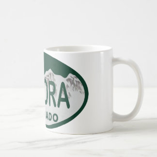 Aurora Colorado license oval Coffee Mug
