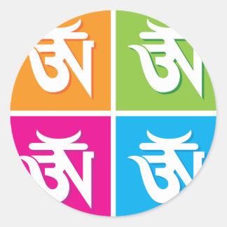 Auspicious Hindu OM / Aum Symbol Classic Round Sticker