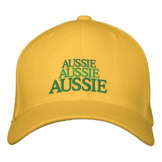 Aussie, Aussie, Aussie embroidered hat