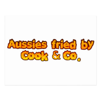 Aussies fried by Cook & Co Postcard