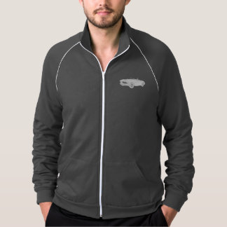 Austin Healey 1960 Black and White Rendering Men's Jacket