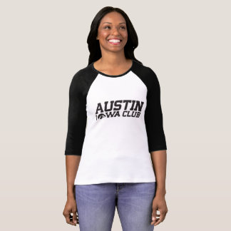 Austin Iowa Club Woman's Baseball Shirt